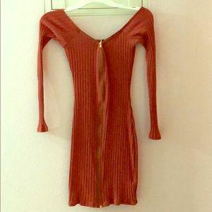Windsor dress, rust colored